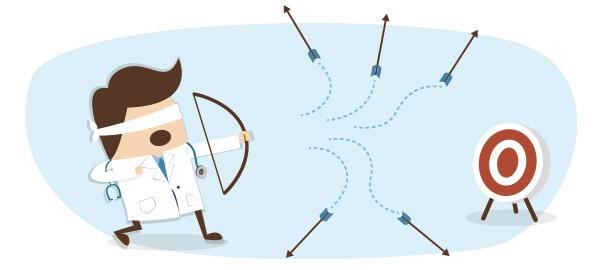erro diagnóstico - longe do alvo - raciocínio clínico