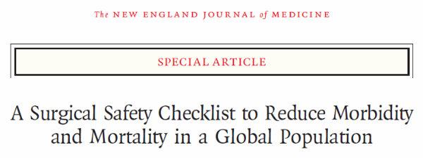 checklist da cirurgia segura - checklist do diagnóstico seguro - raciocínio clínico